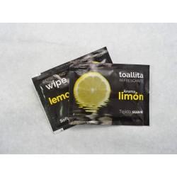 Toallitas refrescantes de limón non woven