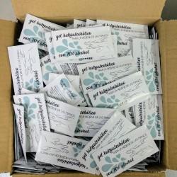 Gel hidroalcohólico. Caja de 1.000 sobres monodosis.
