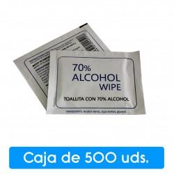 Toallitas hidroalcoholicas monodosis