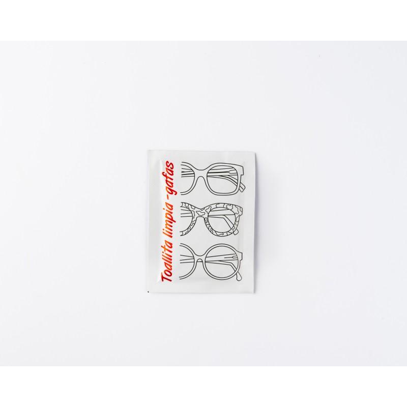 Toallitas limpiagafas en sobres monodosis