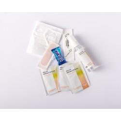 Kit regalo para bodas con spray hidroalcohólico de melón y mascarilla blanca