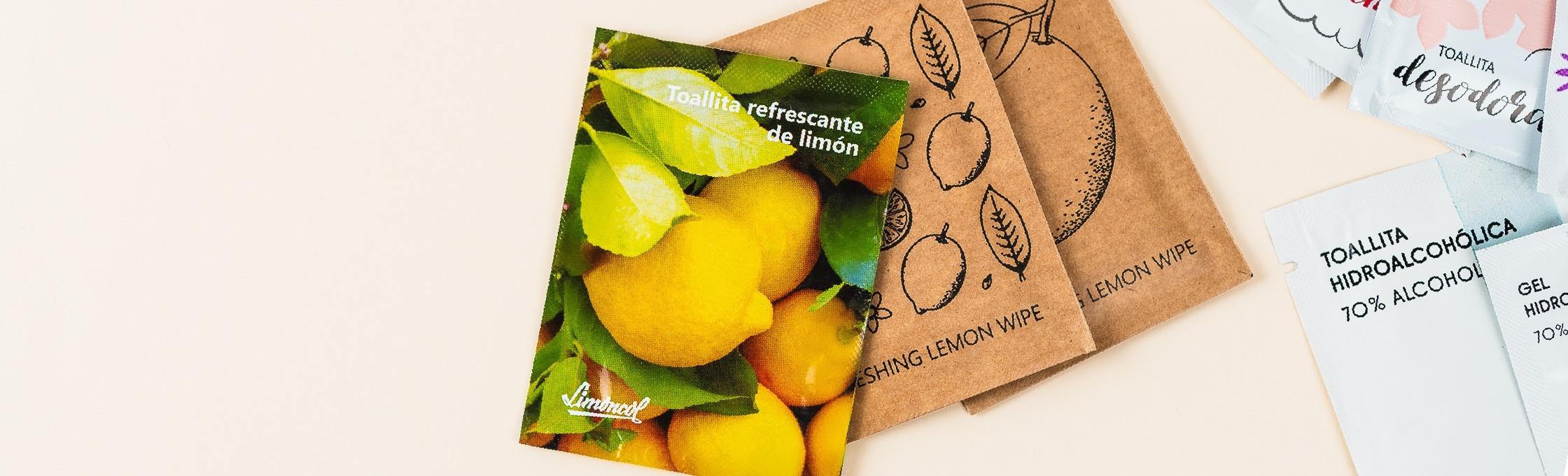 Toallitas refrescantes con aromas naturales